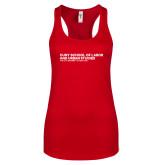 Next Level Ladies Red Ideal Racerback Tank-SLU Logotype