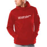 Under Armour Red Armour Fleece Hoodie-SLU Logotype