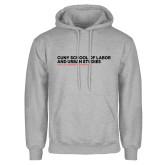 Grey Fleece Hoodie-SLU Logotype