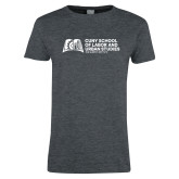 Ladies Dark Heather T Shirt-SLU Murphy Stacked