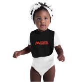 Black Baby Bib-SLU Murphy Stacked