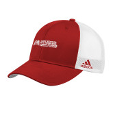 Adidas Red Structured Adjustable Hat-SLU Murphy Stacked