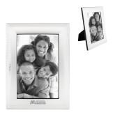 Satin Silver Metal Textured 4 x 6 Photo Frame-SLU Murphy Stacked Engraved