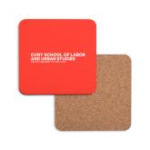 Hardboard Coaster w/Cork Backing-SLU Logotype