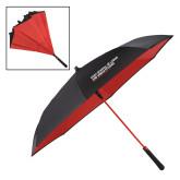 48 Inch Auto Open Black/Red Inversion Umbrella-SLU Logotype