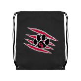 Black Drawstring Backpack-Primary Athletics Mark