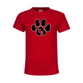Youth Red T Shirt-Paw