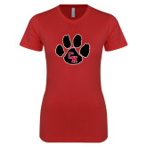 Next Level Ladies SoftStyle Junior Fitted Red Tee-Paw