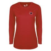 Ladies Syntrel Performance Red Longsleeve Shirt-Primary Athletics Mark