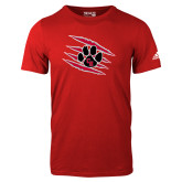 Adidas Red Logo T Shirt-Primary Athletics Mark