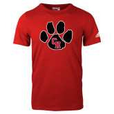 Adidas Red Logo T Shirt-Paw