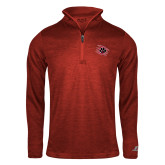 Russell Red Heather 1/4 Zip-Primary Athletics Mark