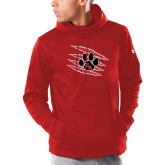 Under Armour Red Armour Fleece Hoodie-Primary Athletics Mark