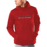 Under Armour Red Armour Fleece Hoodie-Wordmark