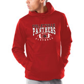 Under Armour Red Armour Fleece Hoodie-Football Stacked