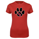 Ladies Syntrel Performance Red Tee-Paw
