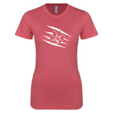 Next Level Ladies SoftStyle Junior Fitted Pink Tee-Primary Athletics Mark