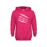 Youth Raspberry Fleece Hoodie-Primary Athletics Mark