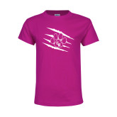 Youth Cyber Pink T Shirt-Primary Athletics Mark
