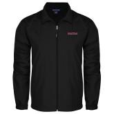 Full Zip Black Wind Jacket-Wordmark