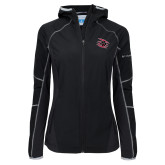 Columbia Ladies Sweet As Black Hooded Jacket-Primary Athletics Mark