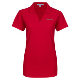 Ladies Red Dry Zone Grid Polo-Wordmark