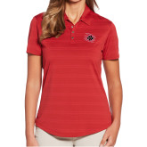 Ladies Callaway Horizontal Textured Deep Red Polo-Primary Athletics Mark