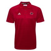 Adidas Climalite Red Jacquard Select Polo-Primary Athletics Mark