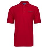 Red Easycare Pique Polo-Wordmark
