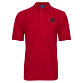 Red Easycare Pique Polo-Paw
