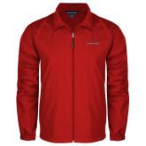 Full Zip Red Wind Jacket-Wordmark