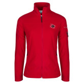 Columbia Ladies Full Zip Red Fleece Jacket-Primary Athletics Mark