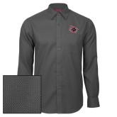 Red House Dark Charcoal Diamond Dobby Long Sleeve Shirt-Primary Athletics Mark