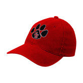 Red OttoFlex Unstructured Low Profile Hat-Paw