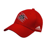 Adidas Red Structured Adjustable Hat-Primary Athletics Mark
