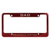 Dad Metal Red License Plate Frame-Dad