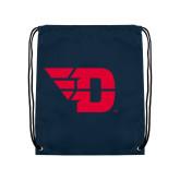 Navy Drawstring Backpack-Flying D