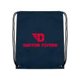 Navy Drawstring Backpack-Dayton Flyers