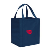 Non Woven Navy Grocery Tote-Flying D