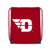 Red Drawstring Backpack-Flying D