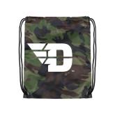 Camo Drawstring Backpack-Flying D