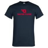 Navy T Shirt-Dayton Flyers