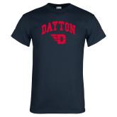 Navy T Shirt-Arched Dayton