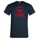 Navy T Shirt-Property of Dayton Flyers
