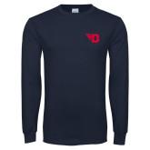 Navy Long Sleeve T Shirt-Flying D