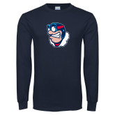 Navy Long Sleeve T Shirt-Mascot