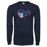 Navy Long Sleeve T Shirt-Mascot Profile