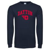 Navy Long Sleeve T Shirt-Arched Dayton