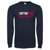 Navy Long Sleeve T Shirt-Dayton6th