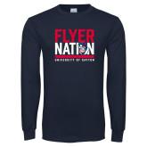 Navy Long Sleeve T Shirt-Flyer Nation